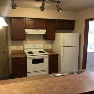 Kitchen in vacant apartment