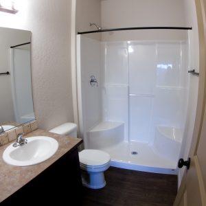 Bathroom in vacant apartment