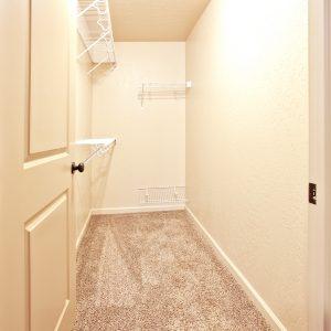 Walk in closet in vacant apartment